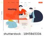 business topics  meeting  web...   Shutterstock .eps vector #1845865336