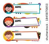 name tags for school children | Shutterstock .eps vector #1845870853