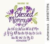 handwritten font. typography... | Shutterstock .eps vector #1845875596