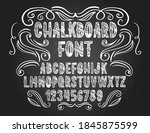 chalkboard font. typography... | Shutterstock .eps vector #1845875599