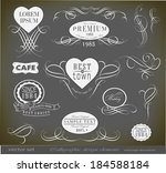 calligraphic design elements | Shutterstock .eps vector #184588184