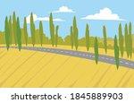vector image. autumn landscape... | Shutterstock .eps vector #1845889903