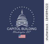 united states capitol building... | Shutterstock .eps vector #1845894223