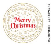 merry christmas badge vintage... | Shutterstock .eps vector #1845896143