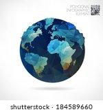 vector world globe  3d... | Shutterstock .eps vector #184589660