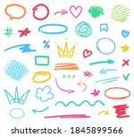 infographic elements isolated... | Shutterstock .eps vector #1845899566