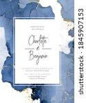 classic blue watercolor fluid... | Shutterstock .eps vector #1845907153