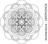 easy mandala coloring book... | Shutterstock .eps vector #1845910426