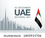 49 uae arabic national day...   Shutterstock . vector #1845915706