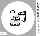 excavator icon sign vector... | Shutterstock .eps vector #1845923956