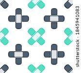 green set plaster icon isolated ...   Shutterstock .eps vector #1845941083