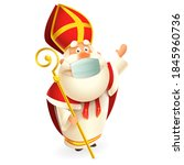 saint nicholas or sinterklaas... | Shutterstock .eps vector #1845960736