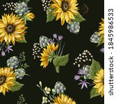 seamless pattern with... | Shutterstock .eps vector #1845986533