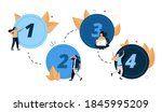 vector graphic  circle number...