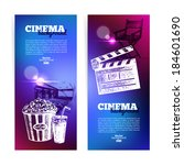 set of movie cinema banners.... | Shutterstock .eps vector #184601690