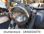 A Headlamp Of Old Military...
