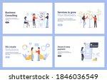 set flat concept modern...   Shutterstock . vector #1846036549