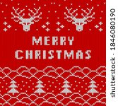 christmas and new year knitted...   Shutterstock .eps vector #1846080190