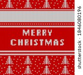 christmas and new year knitted...   Shutterstock .eps vector #1846080196
