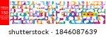 mega collection of 150 social... | Shutterstock .eps vector #1846087639