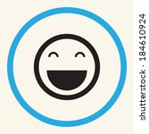smile icon in the circle | Shutterstock .eps vector #184610924