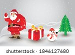 merry christmas santa with... | Shutterstock .eps vector #1846127680