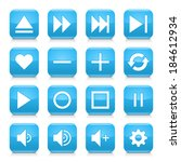 16 media control icon set 06.... | Shutterstock .eps vector #184612934