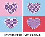 heart icon and hearts symbol... | Shutterstock .eps vector #184613336