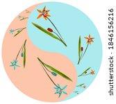 floral symbol yin yang.... | Shutterstock . vector #1846156216