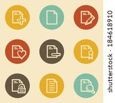 document web icon set 2  retro... | Shutterstock .eps vector #184618910