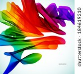 multicolor abstract bright... | Shutterstock .eps vector #184619210