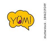 Yum  Yum Yum Sticker. Banner...