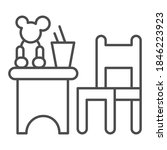 children table and chair with... | Shutterstock .eps vector #1846223923