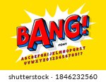 comic book style font design ...   Shutterstock .eps vector #1846232560