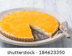 delicious homemade cheese cake... | Shutterstock . vector #184623350