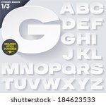 modern flat alphabet for... | Shutterstock .eps vector #184623533