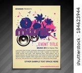 vector music brochure flyer ...   Shutterstock .eps vector #184623944