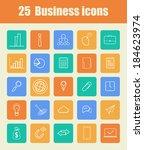 set of flat design icons for... | Shutterstock .eps vector #184623974