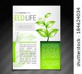 vector eco friendly flyer... | Shutterstock .eps vector #184624034