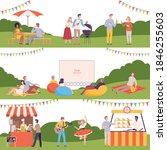 people performing leisure... | Shutterstock .eps vector #1846255603