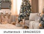 Beautiful christmas tree in...