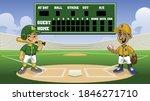 cartoon baseball games in ......   Shutterstock .eps vector #1846271710