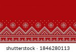knitted red seamless pattern.... | Shutterstock .eps vector #1846280113