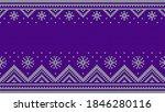 knitwear sweater violet ethnic... | Shutterstock .eps vector #1846280116