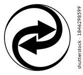swirling arrows integration...   Shutterstock .eps vector #1846298599
