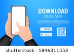 download page of the mobile app....   Shutterstock .eps vector #1846311553