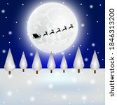 santa claus flies with gifts on ... | Shutterstock .eps vector #1846313200