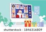 santa claus having video... | Shutterstock .eps vector #1846316809