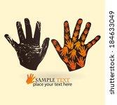 handprint | Shutterstock .eps vector #184633049
