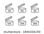 period after opening icons.... | Shutterstock .eps vector #1846336150